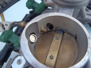 Idle control valve opening