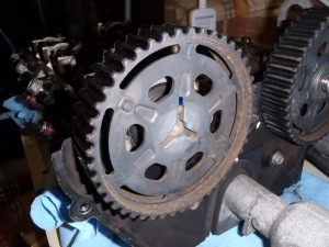 Intake cam pulley